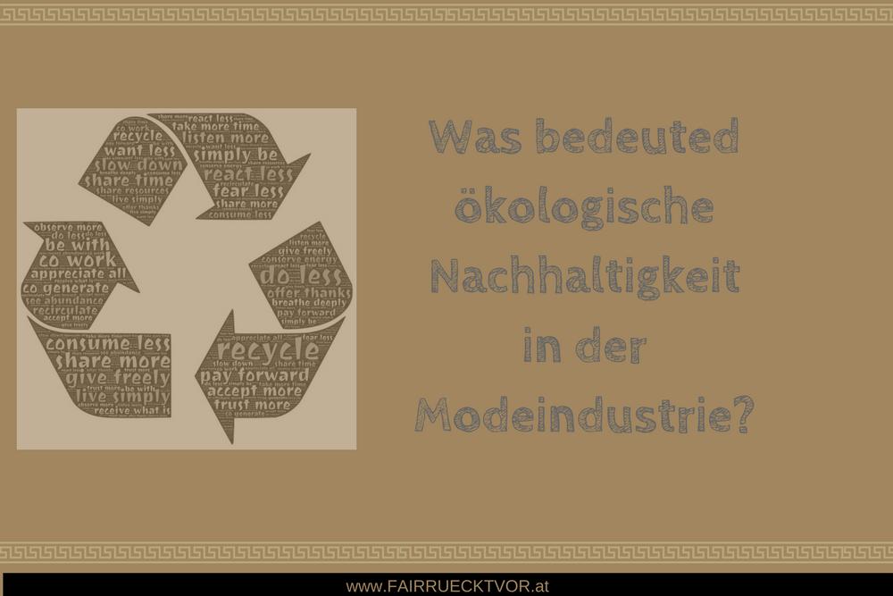 Was bedeuted ökologische Nachhaltigkeit?