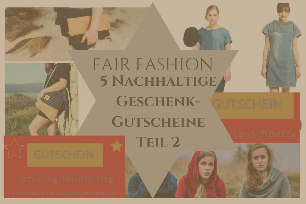 Fair Fashion: 5 nachhaltige Geschenkgutscheine Teil 2_nachhaltiger Blogger-Adventskalender Tür 8